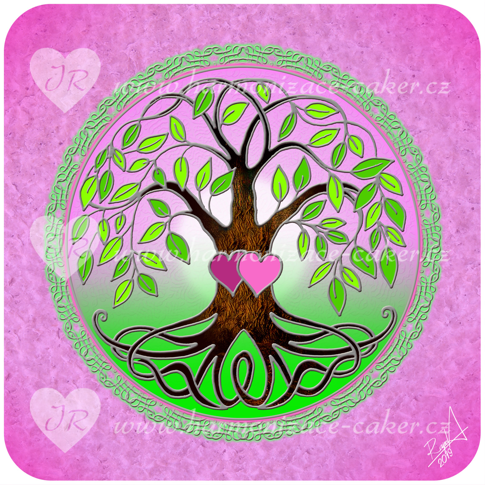 strom_zivota_ruzova_zelena01_stribrna
